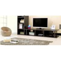 Moisture Resistant Dark Wood TV Stands For Flat Screens Melamine Paper Faced Manufactures