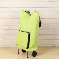 Market Foldable Reusable Shopping Bags 2 Wheels Luggage Vegetable Trolley Bag Manufactures