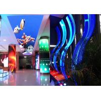 Quality P3.91 Curved Shape Soft Flexible LED Screen Display For Supermarket for sale