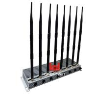 Powerful WIFI Mobile Phone Signal Jammer 8 Antennas Indoor Adjustable 46W Output Power Manufactures