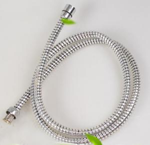 silver shiny PVC flexible shower hose Manufactures