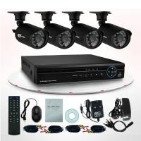Full Hd Network 700TVL DVR Surveillance System , 4CH CCTV Home Security Kits Manufactures