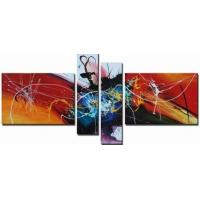 4Pcs/Set Moden Colorful Abstract Art;Hand Painted Artwork On Canvas Art supplier in china Manufactures
