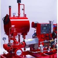 Horizontal Split Case Centrifugal Pump , SS Red Diesel Engine Pump For Fire Fighting Manufactures