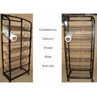 Multiple Shelves KD Structure Wire Rack Display / Light Duty Wire Retail Display Racks Manufactures
