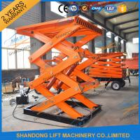 China CE TUV 2T Stationary Hydraulic Scissor Lift Platform Warehouse Cargo Scissor Lift on sale