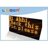 China P3 Yellow Color Programmable Scrolling Led Sign Wireless Controller System on sale