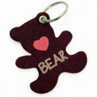 Cute Bear-shape Keychain, Measures 6 x 7cm, Made of 3mm Felt Material Manufactures