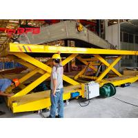 Crane Work Hydraulic Lifting Transfer Cart With Large Table Electric Power Manufactures