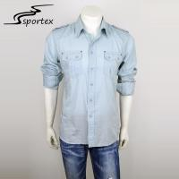 Fashion Mens Fitted Shirts Casual , Casual Shirts For Men Anti Pilling Manufactures