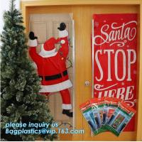 China supplier Party Accessory Happy Christmas House Decoration Door Cover door poster,door covers for christmas decorat Manufactures