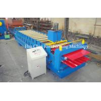 Double Layer Roof Panel Color Steel Sheet Roll Forming Machine With 12 / 13 Rows Manufactures