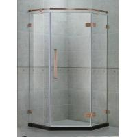 135 Degree Stainlees Steel Hinge Shower Enclosures Swing Red Bronze Support Bar For Apartment Manufactures