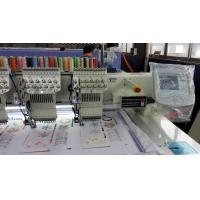 White Business Flat Embroidery Machine With Auto Cutter 12 Colors
