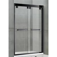 Matte Black Double Sliding Glass Shower Screen Aluminum Alloy Inline Visible Glass Clips Manufactures