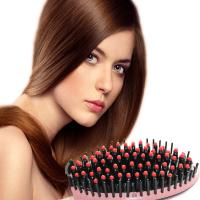 Hair Straightener Comb with LCD Display Electric Brush Hair Brush Hair Care Hair Straightening Styling Tools Manufactures