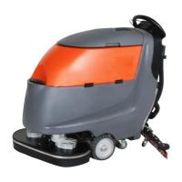Walk Behind Two Brushes Commercial Hard Floor Cleaner Machine High Efficiency Manufactures