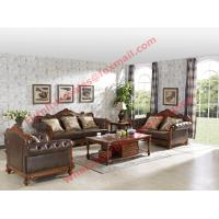 1+2+3 Italy Leather Upholstery Sofa Set with Wooden Tv Stand and Storage Cabinet Manufactures
