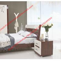Quality Budget Hotel furniture in modern deisgn by panel bed and doors wardrobe in high for sale