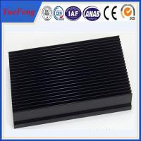 aluminium 6063 t5 heat sink with punching, OEM aluminium black anodized heat sink Manufactures