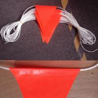 Durable Bright Orange Safety Bunting Flag With Double Stiching Manufactures