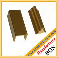 C38500 CuZn39Pb3  CuZn39Pb2 CW612N C37700 golden color brass extrusion profiles section hardware Manufactures