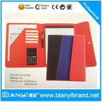 China Leather Portfolio With Writting Pad on sale