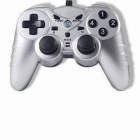 Two-in-one PC USB Joypad with Turbo Function, Compatible with Microsoft's Xbox 360 Manufactures