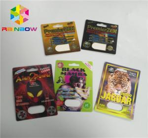 Custom Blister Card Packaging Alien Powder Rhino 3d Paper Pills Capsule Pack Manufactures