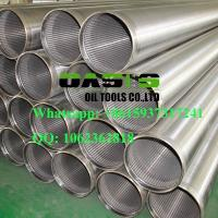 China Galvanized  welding ring  V-shape Slot Johnson Water Well Screens China Manufacturer on sale