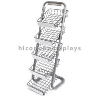 5 Layer Metal Tray Retail Flooring Display Stand Wire Snack Candy Bar Display Stand Manufactures