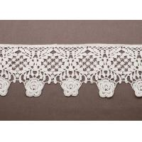 OEM White Lace Cotton Crochet Clothing Trimmings for Women Knitted Sweaters