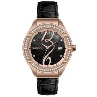 Auto Date Tourbillon Women Jewelry Watch , Leather Quartz Watch Manufactures