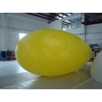 Yellow Zeppelin Helium Balloon Inflatable Waterproof For Outdoor Sports Manufactures