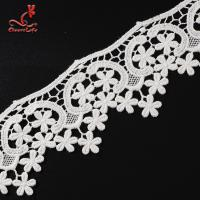 100% Cotton Water Soluble Flower Lace Trim For Clothing Pollution - Free