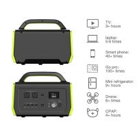 LCD Screen 500w Portable Power Station With DC / AC Inverter Power Supply Manufactures