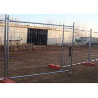 Buy cheap Hot dip galvanized removable temporary fencing crowd control barriers panels from wholesalers