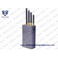 5 Band Portable 3G Cell Phone Signal Jammer HS Code 8543709200 Black Manufactures