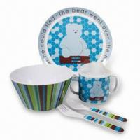 Melamine Baby Feeding Set, Customized Colors and Designs are Accepted Manufactures