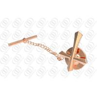 Rose Gold Plated Jewelry Tie Pins And Clips With Cross Design Manufactures