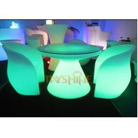 Durable PE LED Glow Furniture , Led Bar Chairs and Tables With Rechargeable Battery Manufactures