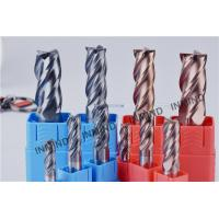 H6 Tolerance Solid Carbide Square End Mill Tools With 0.2 - 0.3 UM Grain Size Manufactures