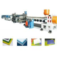 Quality PP PE PC PVC Foam Board Extrusion Line Single Screw Extruder Machine Energy Saving for sale