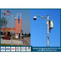 China Q235 CCTV Camera Pole With Hot Dip Galvanized / Powder Coated / Painting Craft on sale