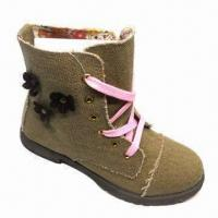 Quality Children's Casual Shoes/Boots with PVC Outsole and Canvas Upper for sale