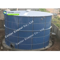 China Dark Blue 14pH Glass Lined Water Storage Tanks For Leachate Treatment on sale