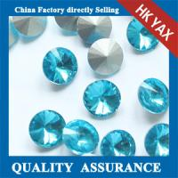Lt sapphire Round Satellite glass stone,point back rhinestone,china manufacturer glass stones pointback Manufactures