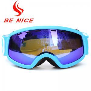Popular Winter Outdoor Children'S Ski Goggles , Blue Photochromic Ski Goggles