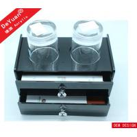 High Glossy Black Acrylic Drawer Box For Hotel Toiletries Organizer Manufactures