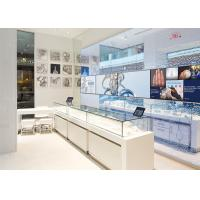LED Lights Decorated Custom Glass Display Cases / Shop Display Cabinets Manufactures